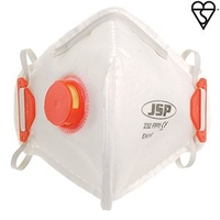 FOLD FLAT DUST MASK (232) VALVED FFP3