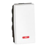 Arteor 10Amp Switch 2W (Indicator)  1 Module - White  | LV0501.2393
