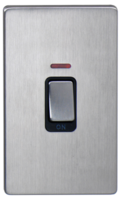 DETA Screwless Tall cooker Switch with Neon Satin Chrome Black Insert   LV0201.0438