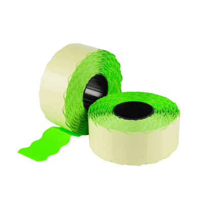 LYNX CT4 26x12mm Labels - Fluorescent Green Permanent (Sleeve 15k)