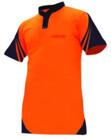 Hi Vis Day Only S/Sleeve Vented Cotton Back Lightweight Polo 145gsm