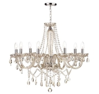 Raphael 8 Light Chandelier, Champagne Crystal | LV1802.0084