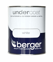 BERGER UNDERCOAT PAINT BRILLIANT WHITE 750 ML