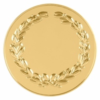 50mm Wreath Coin Medallion (Gold)