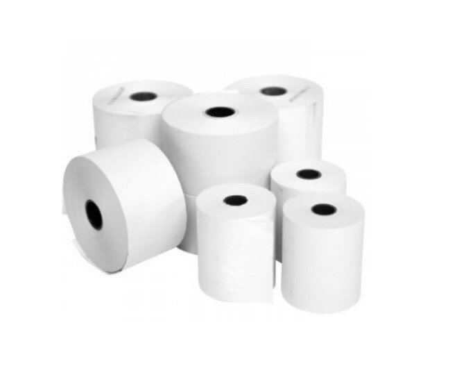 Thermal Paper Roll White 57 x 40 x 12.7mm 40 Roll Box
