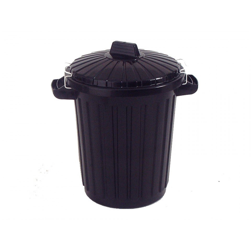 Large Plastic Dust/Litter Bin with Lid 70Litres