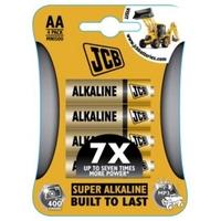 JCB Super Alkaline Batteries Size AA 4 Pack