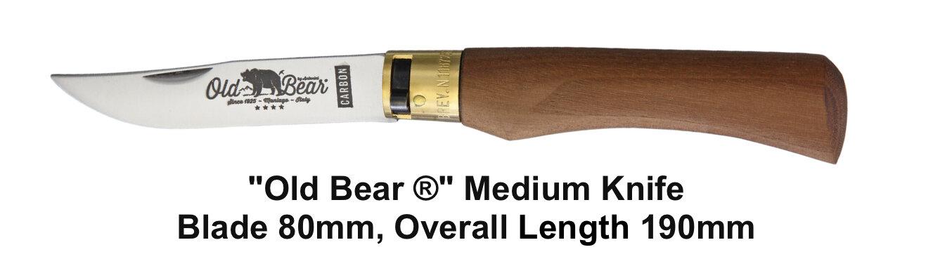 9307/19 OLD BEAR MEDIUM KNIFE