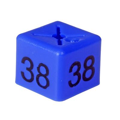 SHOPWORX CUBEX 'Size 38' Size cubes - Blue (Pack 50)