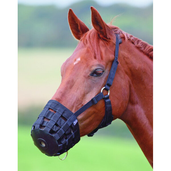 Hy Grazing Muzzle Pony Black