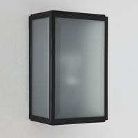 HOMEFIELD FROSTED MATT BLACK WALL LIGHT IP44 | LV1702.0150