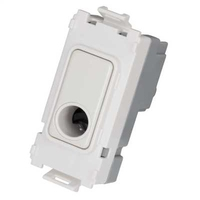 Schneider Ultimate Screwless Grid Painted White Flex Outlet White|LV0701.1107