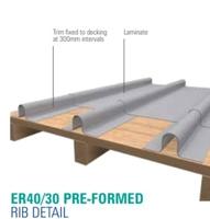 Crystic Roof Preformed Rib Detail Trim 3mt ER40/30