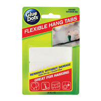 Glue Dots Flexible Hang Tabs 24pk