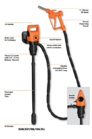 GROZ ELECTRIC DRUM PUMP WITH DC POWER CABLE (12V) 45503 EDR/55T/DC