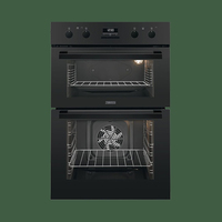 Zanussi ZOD35802BK Electric Built-In Double Oven Cooker - Black