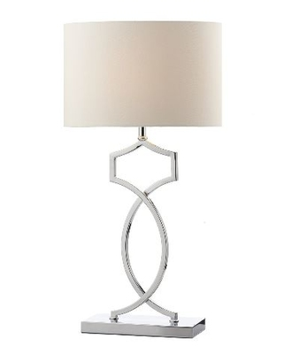 Donovan Table Lamp, Polished Chrome Complete with Shade | LV1802.0126