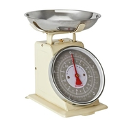 TERRAILLON 5KG MECHANICAL KITCHEN SCALE CREAM