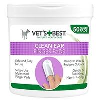Vet's Best Clean Ear Finger Pads 50 pad tub x 1