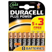 Duracell Plus AAA Battery 5+3 FOC