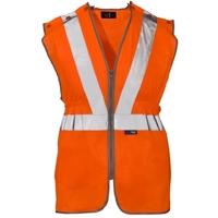 Supertouch Hi-Visibility Polyester Long Tracker Vest, Orange