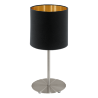 EGLO Pasteri Satin Nickel with Black and Gold Shade Table Lamp | LV1902.0086