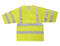 Hi-Visibility Short Sleeve Vest Class 3 Yellow or Orange