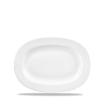 Rimmed Oval Dish 20.3cm Carton of 12