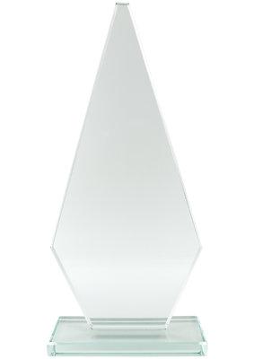 23cm Jade Econ Glass Plaque (Plain Box)