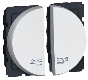 Arteor 2 Way Switch For Bed Lights 2 Module Round - White  | LV0501.2598