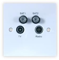 TV/Radio/Sat/Return Wall Plate (304109)