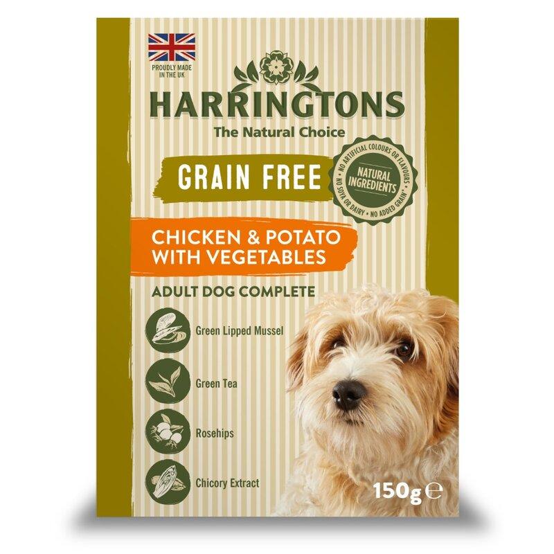 Harringtons Wet Chicken & Potato Dog Food Trays 7 x 150g