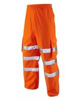 Leo Instow Breathable Executive Cargo Overtrouser Orange