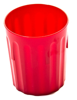 Tumbler Fluted Polycarbonate 8oz Red