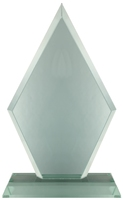 20cm Pointed Glass Plaque (Satin Box)