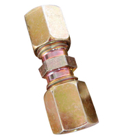 16mm Straight Steel Compression Fittings