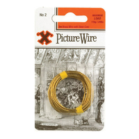 X Brass Picture Wire No.2 Solid Brass 3m Blister Pack