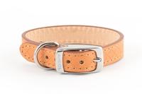 "Ancol Heritage Leather Collar Tan Size 1 12"" x 1"