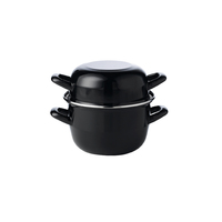 Mussel Pot Black 12cm Diameter 0.5Ltr 17.5oz Carton of 6