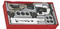TENGTOOL TTTF10 PIPE CUTTER & TWO PIECE DOUBLE FLARING TOOL SET W/ ADAPTORS 4,4.75,6,8,10,12,14mm