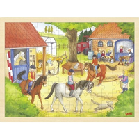 Riding Stable Wooden Jigsaw Puzzle