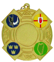 60mm 4 Province Medallion (Gold)