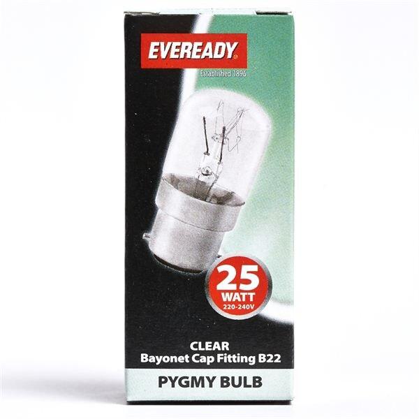 EVEREADY CLEAR PYGMY LAMP B22 25W