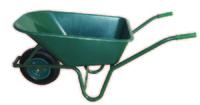 Green PVC Garden Wheelbarrow Assembled 100L