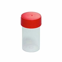 Container 60ml Pp Clear+Red Cap