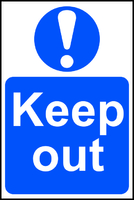 Keep Out Sign 600x400mm