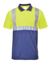 PORTWEST HI-VIS 2-TONE POLO SHIRT