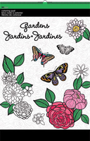 "Colouring Pad 11"" X 17"" Gardens. (Priced in singles, order in multiples of 3)"
