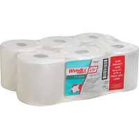 KIMBERLY CLARK - WYPALL WHITE CENTREFEED HAND TOWELS L 20
