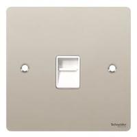 Flat Plate PC RJ45 DATA Socket WH IN|LV0701.0602